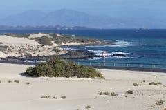 Sceniskt drev längs havskust och sandiga dyn Arkivbild