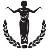 Sceniskt emblem Fotografering för Bildbyråer