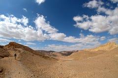 Sceniskt fotvandra i Eilat berg, Israel arkivbilder