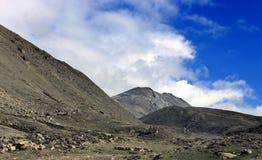 Sceniskt Himalayan berg i norr Sikkim, Indien Royaltyfri Fotografi