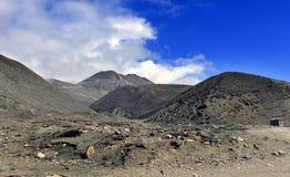 Sceniskt Himalayan berg i norr Sikkim, Indien Arkivfoto