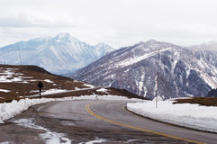 sceniskt huvudvägberg fotografering för bildbyråer