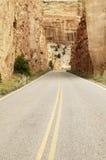 sceniskt huvudvägberg arkivfoto