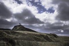 Sceniskt landskap av den maximala områdesnationalparken, Derbyshire, UK Arkivbilder