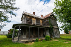 Sceniskt landskap av Elkton, Virginia runt om den Shenandoah medborgaren Arkivfoton