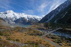 Sceniskt landskap av monteringskocken, Nya Zeeland royaltyfria bilder
