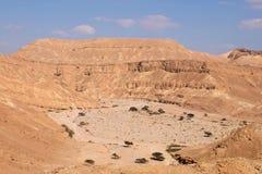 Sceniskt landskap för Negev öken Arkivbild