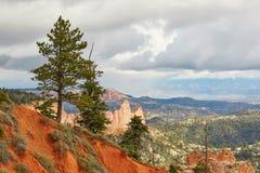 Sceniskt landskap i Bryce Canyon, Utah, USA Royaltyfri Fotografi