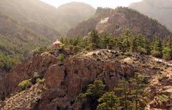 Sceniskt landskap i Helan berg, Ningxia landskap, Kina Arkivfoton