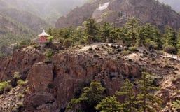 Sceniskt landskap i Helan berg, Ningxia landskap, Kina Arkivbilder
