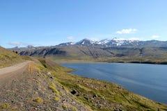 Sceniskt landskap i Island. Arkivbild