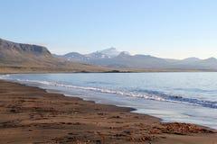 Sceniskt landskap i Island. Royaltyfri Bild