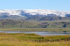 Sceniskt landskap i Island. Arkivfoto