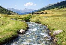 Sceniskt landskap i Schweiz Arkivbilder