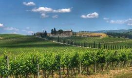 Sceniskt landskap i Tuscany, Italien Royaltyfria Foton