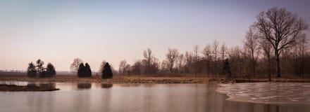 Sceniskt landskap nära Edwardsville Illinois Royaltyfria Bilder