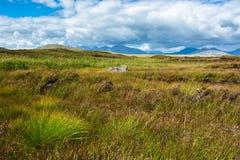 Sceniskt lantligt landskap i Connemara i Irland Arkivfoton