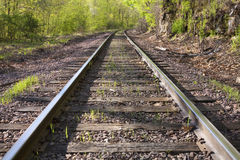 sceniskt spår för järnväg Royaltyfri Bild