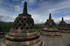 sceniskt tempel för borobudur Fotografering för Bildbyråer