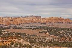 Sceniskt Utah landskap på mellanstatliga 70 Fotografering för Bildbyråer