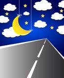 Paesaggio di notte Fotografie Stock Libere da Diritti