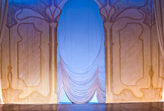 Scenography and curtain Royalty Free Stock Photography