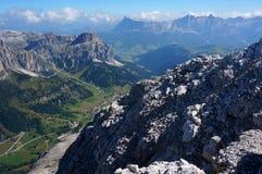 scenry美妙的白云岩的山/高山风景/巨大看法 免版税图库摄影