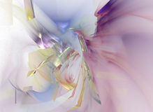 The scent. Abstract rendering in soft tones, large file, can also be used partially Stock Image