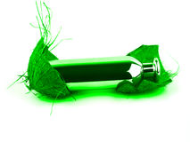 Scent bottle green Royalty Free Stock Photo