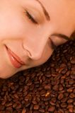 Scent of a coffee Stock Image