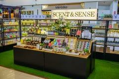Scent & Sense at Mega Bangna, Bangkok, Thailand, Jun 2, 2018 stock images