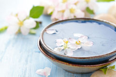 Scented νερό και λουλούδια Στοκ Εικόνες