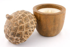 Scented acorn shape candle Stock Photo