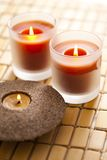 Scented candle Stock Images