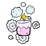 Scented candle cartoon Stock Photo