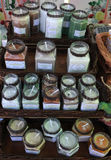 Scented candles at handmade fair Royalty Free Stock Image