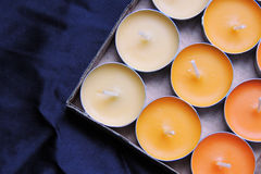 Scented candles and matches Royalty Free Stock Photos