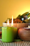 Scented candles and salts Stock Images
