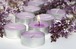 Scented candles Stock Photography