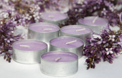 Scented candles . Stock Images