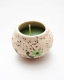 Scented candles.spa. A Scented candleson white.spa Royalty Free Stock Photo