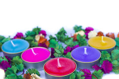 Scented candles, very clorfull Stock Image