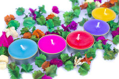 Scented candles, very clorfull Stock Photography