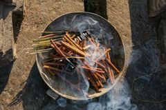 Scented Incense Sticks royalty free stock photos