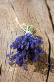 Scented lavender bundle lying on table Stock Photography