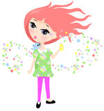 Scented perfume Spray. Illustration of a young girly spraying perfume into the air vector illustration