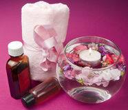 Scented products for body care Stock Photography