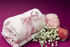 Scented products for body care Royalty Free Stock Photo