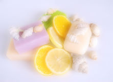 Scented soap Stock Images