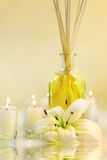Scented sticks with candles Stock Photo